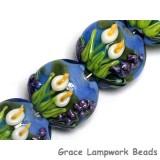 10413312 - Four Calla Lily Lake Lentil Beads