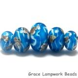 10413511 - Five Zircon Blue Treasures Graduated Rondelle Beads