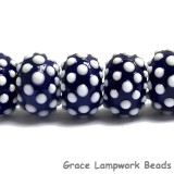 10413801 - Seven Polka Dots on Grape Rondelle Beads