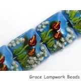 10414114 - Four Red Calla Lily Lake Pillow Beads