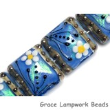 10414214 - Four Arctic Blue Florals Pillow Beads