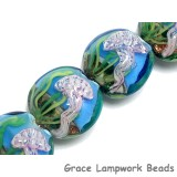 10414312 - Four Sea Jellies Lentil Beads