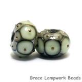 10504901 - Seven Moss Green w/Metal Dots Rondelle Beads