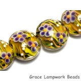 10506312 - Four Sweet Pea Lentil Beads