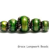 10507311 - Five Herbal Garden Shimmer Graduated Rondelle Beads