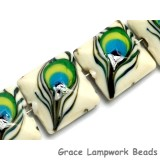 10508014 - Four Peacock Feather Pillow Beads