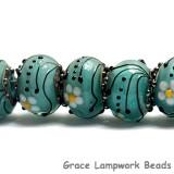10508501 - Seven Seafoam Florals Rondelle Beads