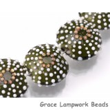 Green Sea Urchin Glass Beads