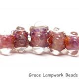 10601611 - Five Graduated Orange & Purple Rondelle Beads