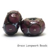10601721 - Six Plum w/Metal Dots Rondelle Beads