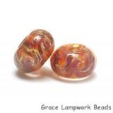 10602201 - Seven Yellow & Purple Free Style Rondelle Beads