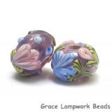 10603001 - Seven Violet Garden Rondelle Beads