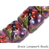 10603104 - Seven Red Dragonfly/Violet Garden Pillow Beads