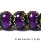 10604001 - Seven Violet Shimmer Rondelle Beads