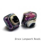 10604207 - Five Amethyst Jewel Ridge Crystal  Shaped Beads