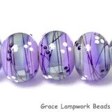 10604821 - Six Lilac Tea Party Rondelle Beads