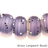 10604841 - Eight Lilac Tea Party Rondelle Beads