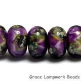 10605401 - Seven Purple Meadow Rondelle Beads