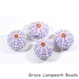 Purple sea urchin beads