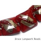 10704204 - Seven Regal Red Metallic Pillow Beads
