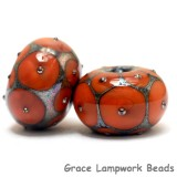 10705221 - Six Coral w/Metal Dots Rondelle Beads