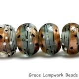 10903221 - Six Smokey Bronze Rondelle Beads