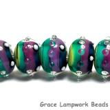 11008701 - Seven Begonia Stripes Rondelle Beads