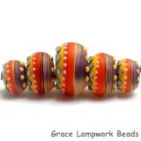 11008811 - Five Barcelona Matte Graduated Rondelle Beads