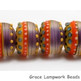 11008821 - Six Barcelona Matte Rondelle Beads