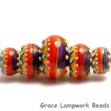 11008911 - Five Barcelona Gloss Graduated Rondelle Beads