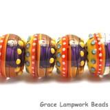 11008921 - Six Barcelona Gloss Rondelle Beads