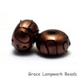 11204401 - Seven Copper Pearl Surface w/Black Swirl Rondelles