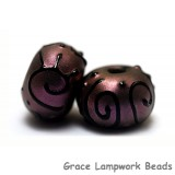 11204501 - Seven Light Purple Pearl Surface Rondelle Beads