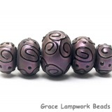 11204511 - Five Grad Light Purple Pearl Surface Rondelle Beads