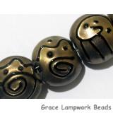 11204802 - Seven Golden Pearl Surface w/Black Lentil Beads