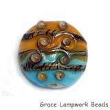 11806302 - Amber Ocean Focal Lentil Bead