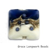 11808904 - White w/Ink Blue Pillow Focal Bead