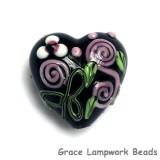 11809905 - Black w/Pink Flower Heart