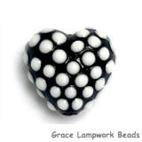 11814605 - Black w/White Dots Heart