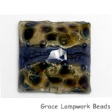 11815304 - Black w/Ink Blue Silver Pillow Focal Bead
