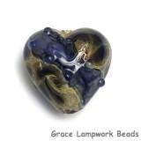 11815305 - Black w/Ink Blue Silver Foil Heart