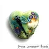 11816605 - Blue Dragonfly w/Purple Flora Heart