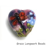 11816705 - Red Dragonfly/Violet Garden Heart