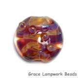 11817402 - Yellow-orange & Purple Lentil Focal Bead