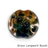 11817902 - Blue & Orange Lentil Focal Bead