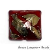 11818304 - Regal Red Metallic Pillow Focal Bead