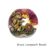 11818402 - Cranberry Treasure Lentil Focal Bead