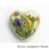 11819105 - Green w/White & Purple Flora Heart