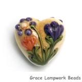 11819205 - Yellow w/Purple & Orange Flora Heart