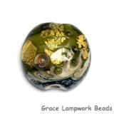 11819402 - Emerald Treasure Lentil Focal Bead